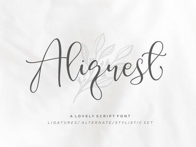Aliquest Script Font font branding letterring brush font feminime signature classic exclusive fashion elegant business