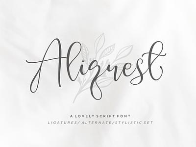 Aliquest Script Font font branding letterring brush font feminime signature classic exclusive fashion elegant business