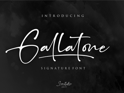Gallatone Signature font typography script font illustration branding stylish simple signature script natural minimalist luxury logo feminime fashion exclusive elegant classic casual business