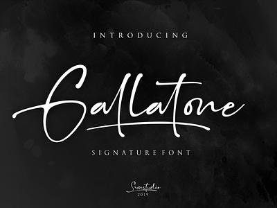 Gallatone Signature font typography script font illustration branding stylish simple signature script natural minimalist luxury logo feminime fashion exclusive elegant classic casual business