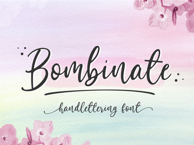 Bombinate // Handlettering Font typography logo ui branding design vector signature illustration natural classic fashion business