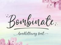 Bombinate // Handlettering Font