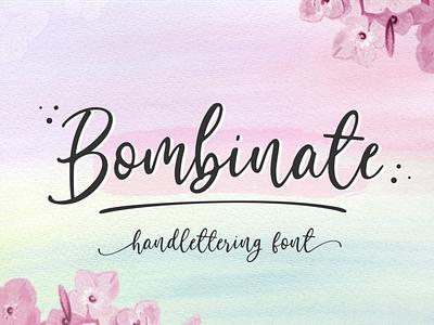 Bombinate // Handlettering Font typography logo ui branding design vector signature illustration natural classic fashion business