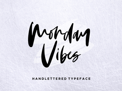 Monday Vibes - Handwritten Font design illustration minimalist stylish logo casual natural signature business