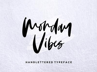 Monday Vibes - Handwritten Font design illustration minimalist stylish logo casual natural signature business