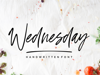 Wednesday Vibes - Handwritten Font art handwritten callighraphy typography vector design illustration logo natural signature