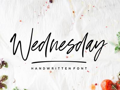 Wednesday Vibes - Handwritten Font art handwritten callighraphy typography vector design illustration logo natural signature