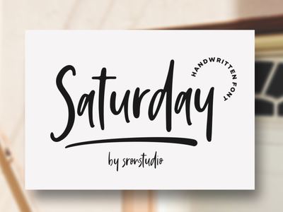 Saturday Vibes - Handwritten Font joy simple vintage bold calligraphy urban retro lettering typographic art graphic sign modern letter typeface design typography alphabet font