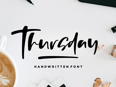 Thursday Vibes - Handwritten Font joy simple vintage bold calligraphy urban retro lettering typographic art graphic sign modern letter typeface design typography alphabet font