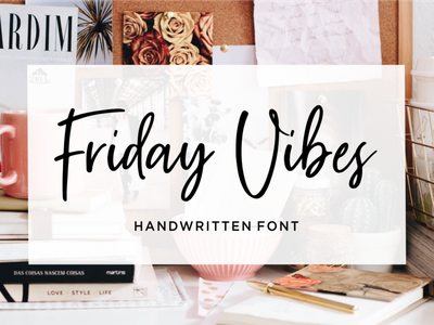 Friday Vibes // Handwritten Font joy simple vintage bold calligraphy urban retro lettering typographic art graphic sign modern letter typeface design typography alphabet font