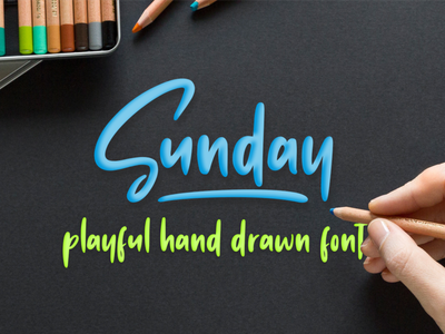 Sunday Vibes //  Hand-drawn Font joy simple vintage bold calligraphy urban retro lettering typographic art graphic sign modern letter typeface design typography alphabet font