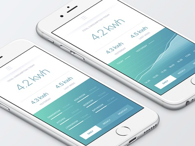 Smart Home electricity overview smart home ui ux app iphone ios electricity control overview