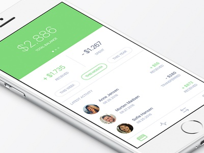 Bank account concept mobilepay pay money bank app ios ui ux design transfer send payment