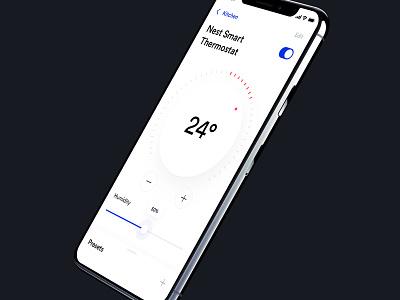 Thermostat Smart Home App design smart home automation app ui ux clean minimalistic control light heat aircon