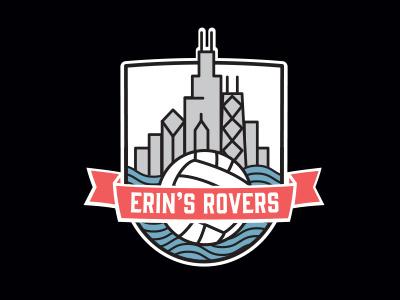 Erin's Rovers gaelic football football skyline logo chicago rovers
