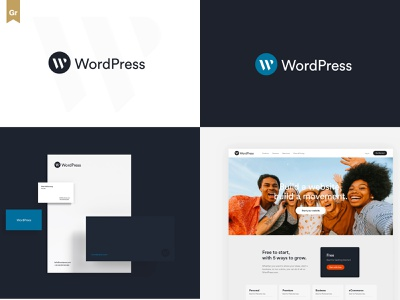 WordPress Logo Redesign themes wp branding design brand guideline revamp redesign branding logo wordpress