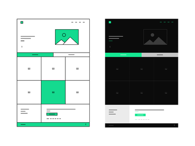 One Page Wireframe