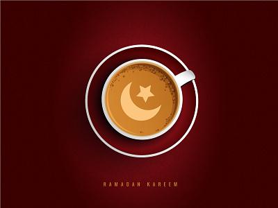 Ramadan Kareem coffee crescent hamburger arabic typography arabic icon islamic icon ramadan icon ramadan typography colorful ramadan kreem ramadan