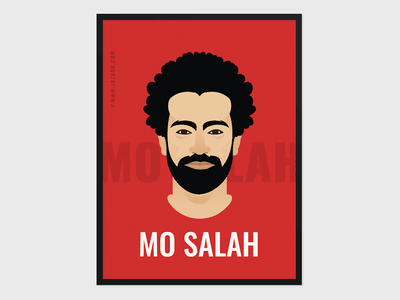 Mohamed Salah Poster Freebie salah liverpool egypt egyptian king red freebie illustration portrait mohamed salah mo salah