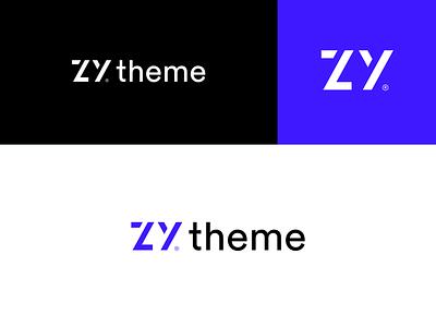 ZYtheme logomarks letters market place wordpres branding zy logo z