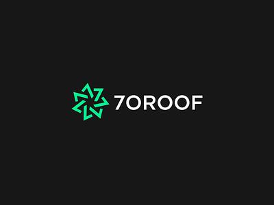 7OROOF green webdesign numbers web egypt arabic logo 7oroof 7