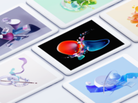 Tablet Wallpaper wallpaper c4d illustration 3d chrome os tablet app