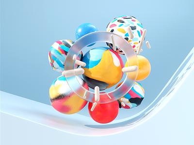 Spring Colors design texture illustration c4d 3d