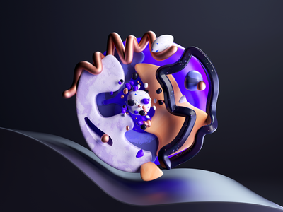 Primordial 02 shapes abstract time travel primoridal texture illustration c4d 3d