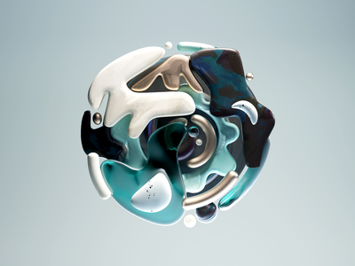 Primordial 03 swirl of goo soup art abstract shapes textures illustration c4d 3d
