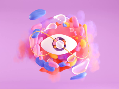 NFT 01 - Infinite Eye motiongraphics motion design infinite infinity eye loop animation illustration c4d 3d