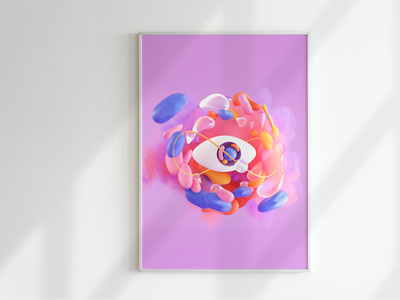 NFT 01 - Infinite Eye motiongraphics motion design infinite infinity eye loop animation illustration c4d 3d