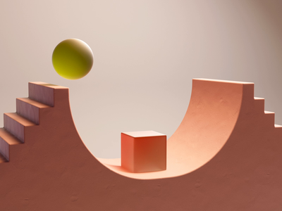The Cube & Sphere cube sphere minimal abstract motion design animation c4d 3d