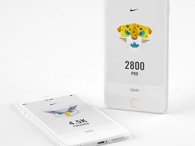 Nike NTC Animal Badges 3d c4d vray app nike badges animals leopard owl