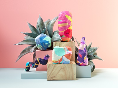 Candy Clay textures colorful clay candy illustration c4d 3d