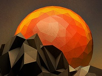 Low-Poly Sun Set
