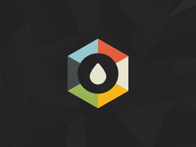 Logo Concept logo drop polygon colors illustration rain end of an era