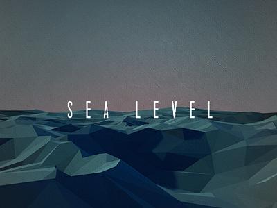 Sea Level Album Art 3d ocean sea seas level low poly geo geometry geometric waves