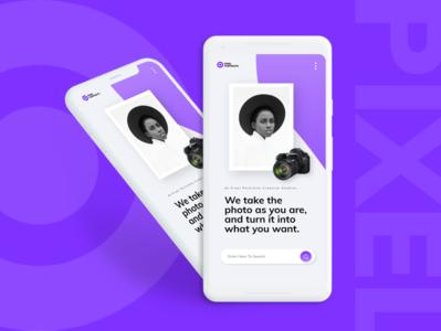Pixel Portraits Website Design (Mobile View)
