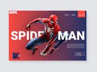 Spider Man Landing Page Design by Damilola Emmanuel Akinosun