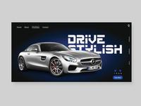 Drive Stylish Ui Landing Page Design