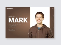 Mark Zuckerberg Ui Landing Page Design