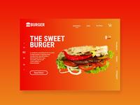 Sweet Burger ui landing page design