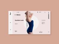 Scarlett Johansson bikini wear landing page