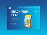 Peak milk ng landing page redesign