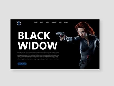 Black widow series UI design