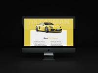Porsche 718 Cayman Landing Page Design