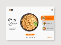 Chill Zone Landing Page Concept