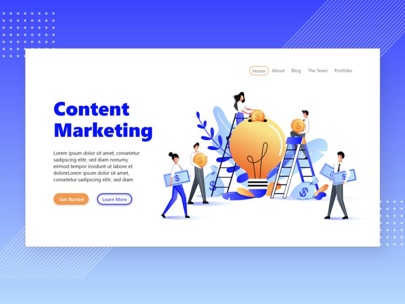Content Marketing Website Concept By Damilola Emmanuel Akinosun