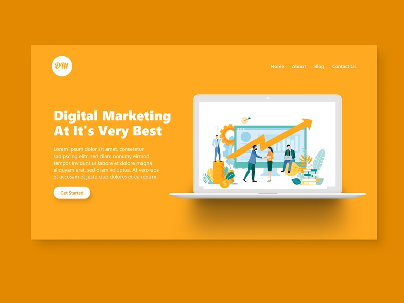 Digital Marketing Landing Page Concept web ui landing page damilola emmanuel akinosun creative