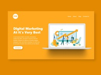 Digital Marketing Landing Page Concept